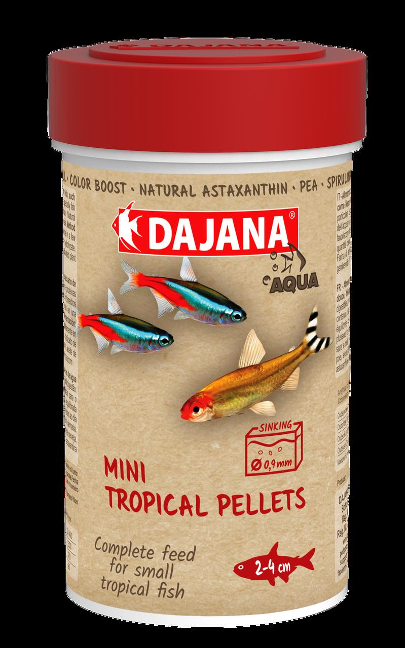 Корм для мальков и мелких рыб Dajana MINI TROPICAL PELLETS 250 мл/130 г