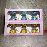 Набор стеклянных чашек с цветочным рисунком ОСЗ Прага Цветы 6 шт (8250), фото 1