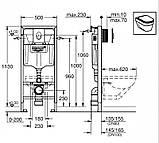 Нужно дешевле? Звоните. RAPID SL 4в1 комплект для подвесного  унитаза (бачок, крепеж, кнопка хром - двойн., фото 2