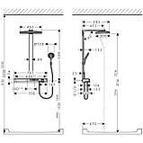 Нужно дешевле? Звоните. Hansgrohe Rainmaker Select 460 3jet Showerpipe, 27106400, фото 2