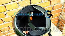 Шлем для мотоцикла Hel-Met F2-825-4 Хишник черный с зеленым глянец, фото 3