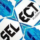 М'яч футбольний SELECT Fusion IMS (012) бел/голуб, розмір 5, фото 2