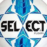 М'яч футбольний SELECT Fusion IMS (012) бел/голуб, розмір 5, фото 3