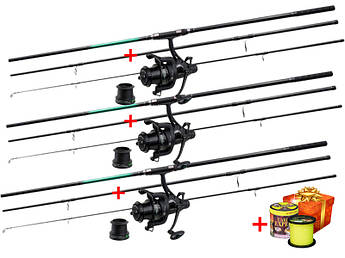 Карповый набор: Удилища Flagman Sensor Big Game Carp + Катушки Capr Pro Blackpool + 1000м лески в ПОДАРОК !