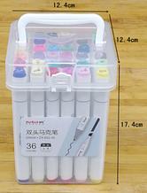 Набор скетч маркеров для рисования 36 штук в школу художественную  двухсторонние маркеры