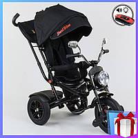 Детский Велосипед. Трехколёсный велосипед с ручкой 4490 - 7009 Best Trike черный  3-х колесный велосипед