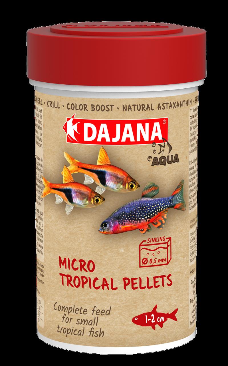 Dajana MIKRO TROPICAL PELLETS. Корм для мальков и мелких рыб (100 мл/50 гр)