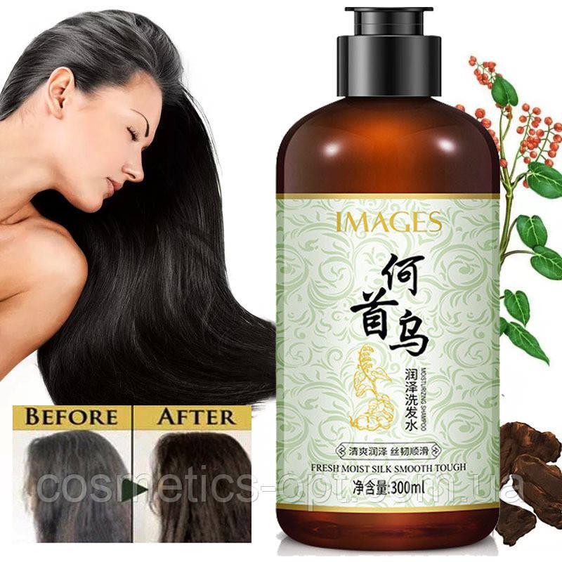 Шампунь з екстрактом Женьшеню і Гірчака багатоквіткового Images Fresh Moist Silk Smooth Tough Shampoo, 300 ml