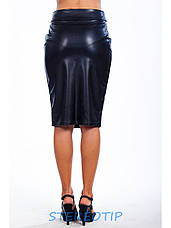 Юбка женская Футляр из эко кожи, фото 2