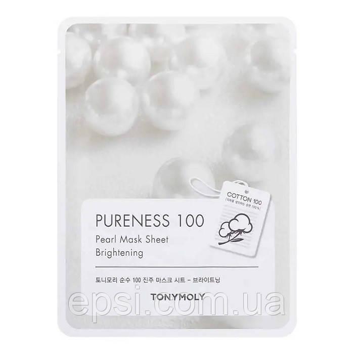 Mаска для лица с экстрактом жемчуга Tony Moly Pureness 100 Pearl Mask Sheet, 21 мл