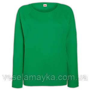 Зеленый женский свитшот