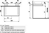 CASE стільниця 79*8*52см, без вирізу, з 2ма кронштейнами в комплекті, світлий дуб, фото 4