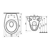 Комплект: IDOL унітаз підвісний сидіння м'яке + VOLLE MASTER комплект інсталяції 4в1, хром (укр.), фото 3