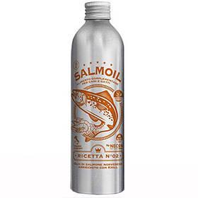 Лососеве масло №2 Necon Salmoil + кріль для шкіри та шерсті для собак і кішок, 250 мл