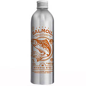 Лососевое масло №2 Necon Salmoil + криль для кожи и шерсти для собак и кошек, 250 мл