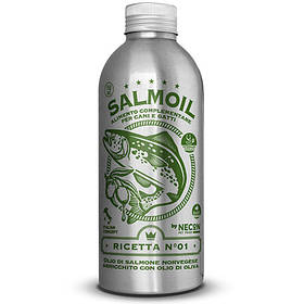 Лососевое масло + оливковое масло №1 Necon Salmoil для кожи и шерсти для собак и кошек, 250 мл