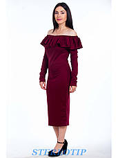 Платье волан с длинными рукавами, фото 3