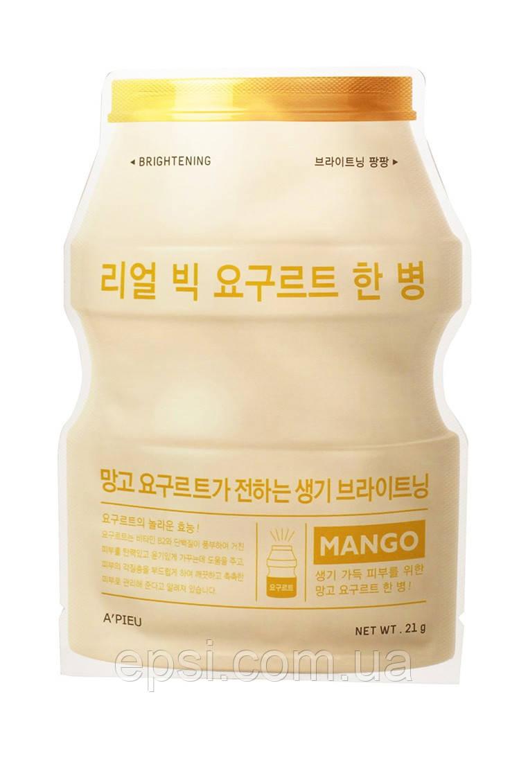 Тканевая маска Манго Apieu Real Big Yogurt One-Bottle, 21 г