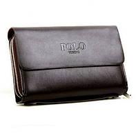 Мужское кожаное портмоне Polo кошелек бумажник клатч