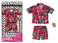 Одяг і аксесуари для ляльки Барбі Піжама Святкова - Barbie Holiday Fashion GGG49, фото 2