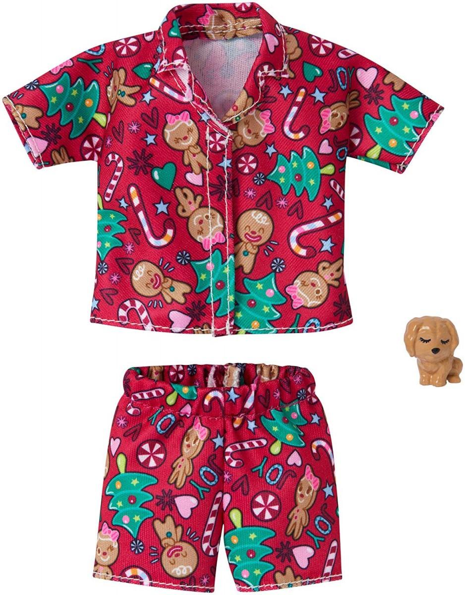 Одяг і аксесуари для ляльки Барбі Піжама Святкова - Barbie Holiday Fashion GGG49