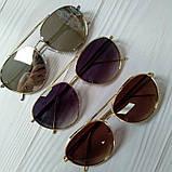 Стильные женские очки авиаторы солнцезащитные, фото 2
