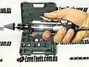 Зачистная машинка пневматическая с комплектом шлифовальных камней  (цанг.зажим 3мм и 6мм) AIRKRAFT TP-201K, фото 4