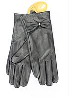 Женские кожаные перчатки Shust Кристи черные