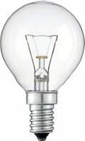 Лампа накаливания Philips E14 60W 230V P45 CL 1CT/10X10F Pila