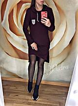 Женское платье батал, двунить, р-р 48-50 (бордовый)