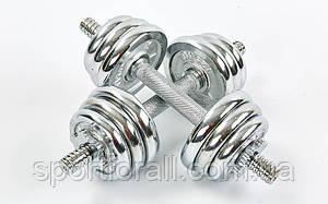 Гантели разборные (наборные) хромированные 2шт 2Х7,5 КГ  TA-8209-15