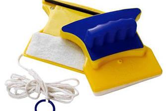 Магнитная щетка для мытья окон с двух сторон Glass Wiper Original