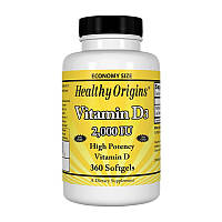 Витамин Д3 Healthy Origins Vitamin D3 2000 IU 360 гел капс