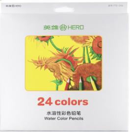 Акварельные карандаши 24 цвета набор акварельных карандашей