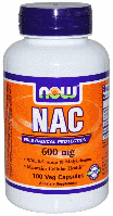 N-Ацетилцистеин, Now Foods, NAC, N-Acetyl Cysteine, 600 mg, 100 Caps