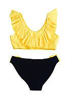 Купальник для девочки Chirks SK0019122 122 см Светло-желтый с черным