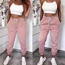 Спортивные штаны женские чёрный, белый, серый, бежевый, пудра, 42-44, 44-46