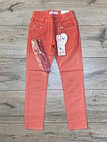Катоновые брюки для девочек.(Стрейч-катон). 4- 14 лет