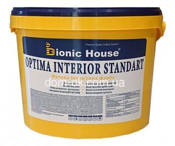 Краска для стен и потолка Бионик Хаус Оптима Интериор Стандарт , 14кг