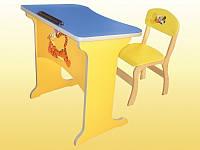 Комплект «Фантазия»: стол-парта детский, 1-местный, антисколиозный, ростовой группы № 1 — 600х450х460 мм+стул