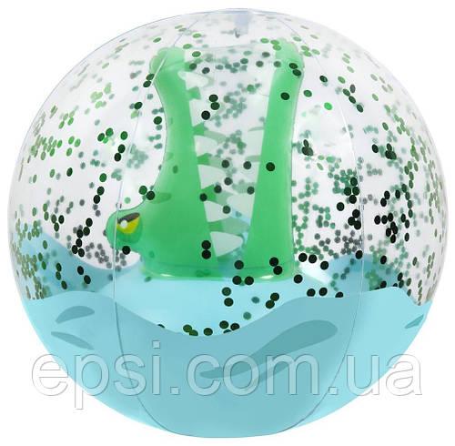 Детский пляжный мяч 3Д Sunny Life, Крокодил, 32 cm
