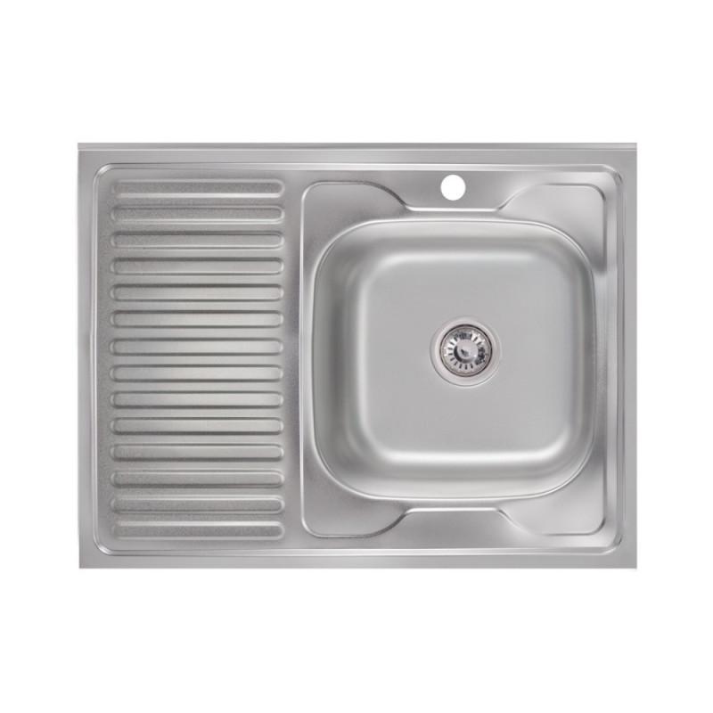 Нужно дешевле? Звоните. Кухонная мойка Lidz 6080-R Satin 0,6 мм (LIDZ6080R06SAT)