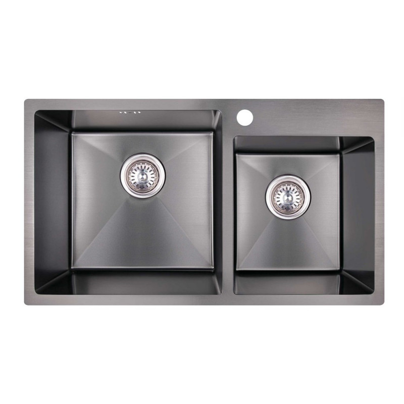 Скидка есть! Звоните. Кухонная мойка Imperial S7843BL PVD black Handmade 2.7/1.0 mm