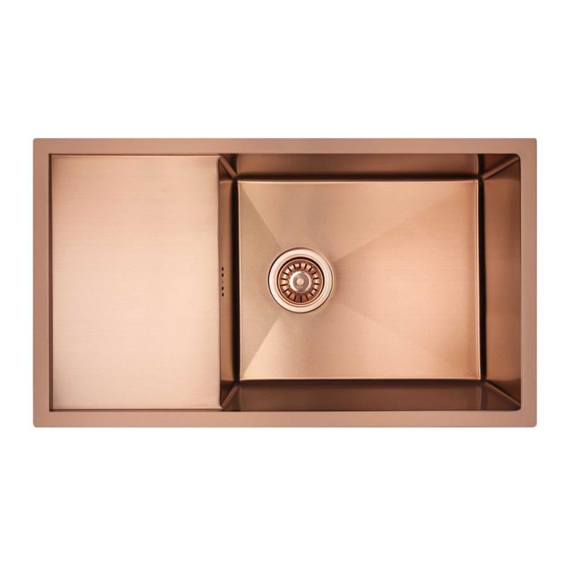 Скидка есть! Звоните. Кухонная мойка Imperial D7844BR PVD bronze Handmade 3.0/1.2 mm