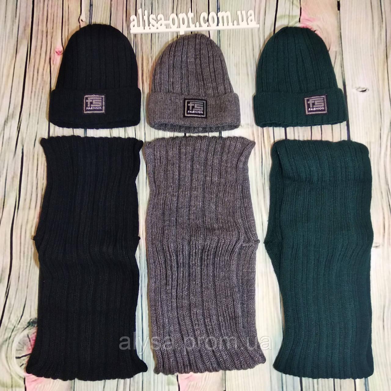 Детская шапка и хомут КД-032 для девочки акрил, подкладка - флис