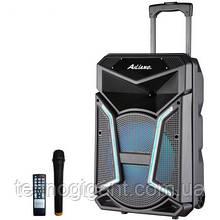 Аккумуляторная беспроводная колонка чемодан Ailiang UF-1702, портативная bluetooth акустика, бумбокс, микрофон