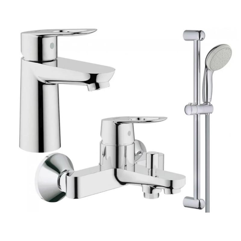 Скидка есть! Звоните. Набор смесителей для умывальника, ванны и душевая стойка S-Size Grohe BauLoop 123214S