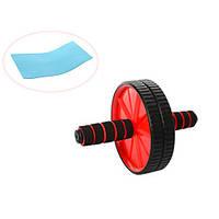Тренажер колесо для пресса PROFI MS 0871-1 красный