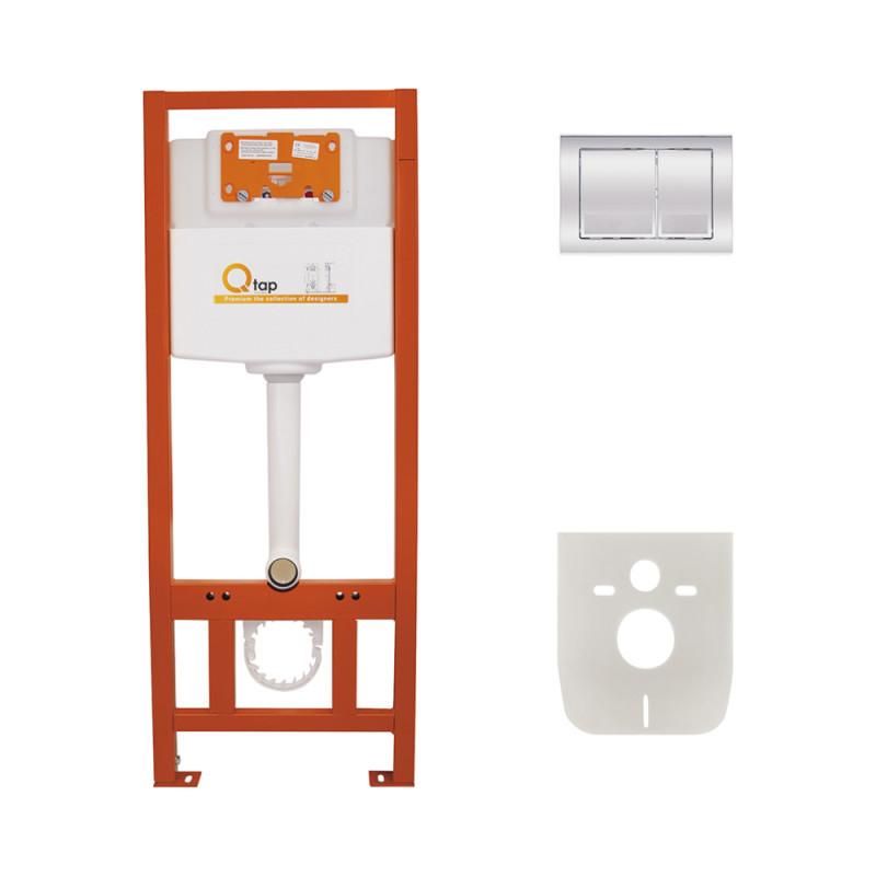 Скидка есть! Звоните. Инсталляция для унитаза Q-tap Nest комплект 4 в 1 с панелью смыва PL M06CRM