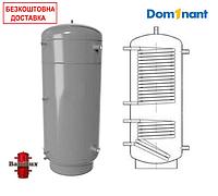 Теплоаккумулятор BakiLux АБН-2 200 литров с двумя теплообменниками без изоляции, буферная емкость